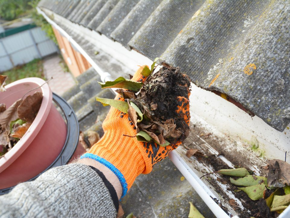 Dirty Gutter Cleaning