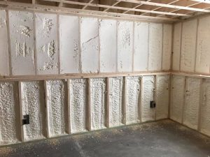 New spray foam installed in walls