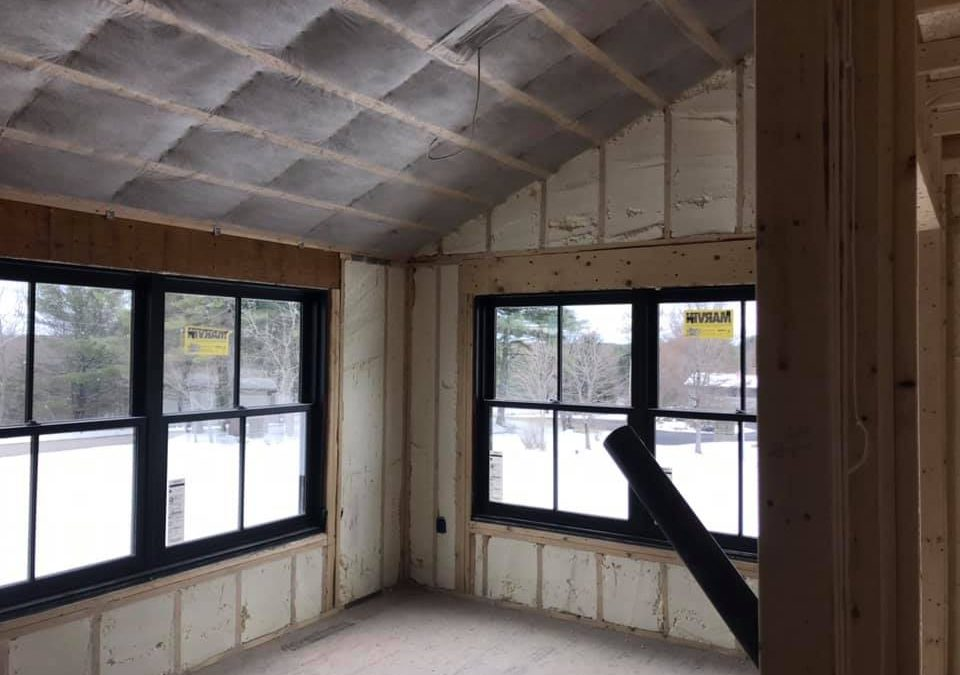 insulation in walls and ceiling