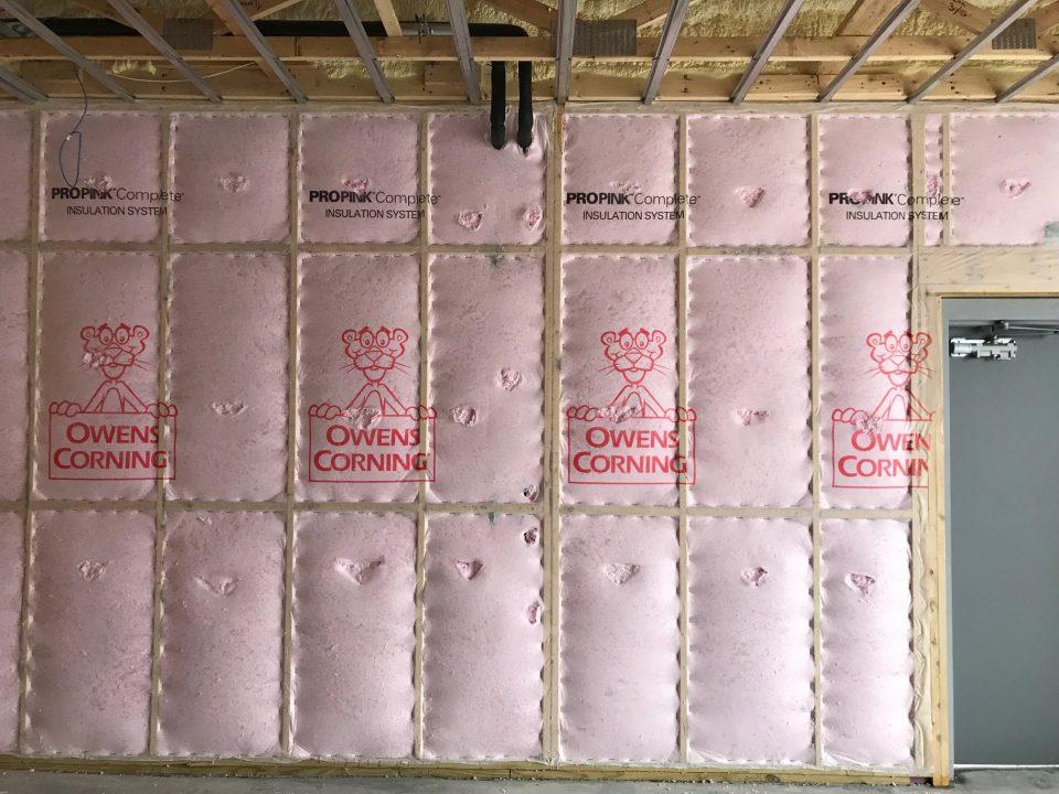 Sprayfoam, cellulose fiberglass insulation