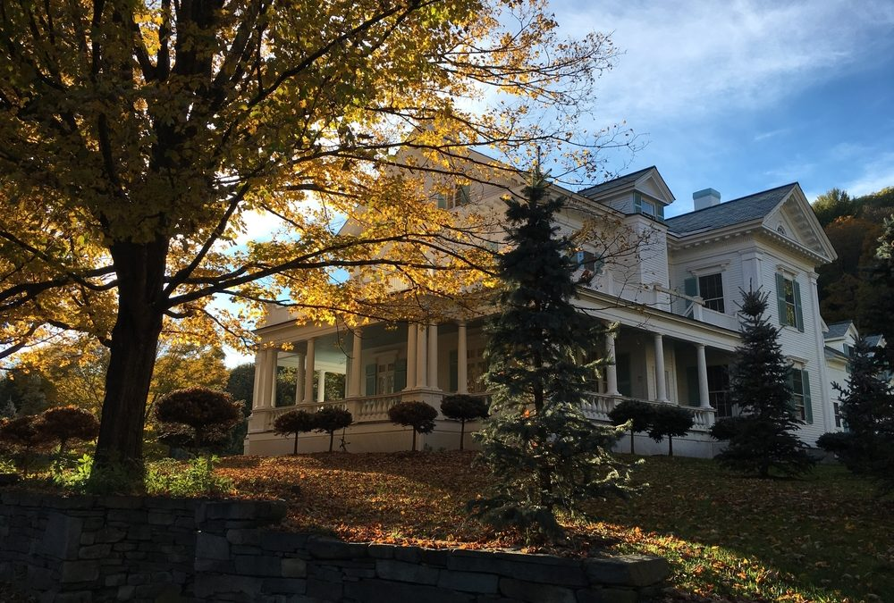 House during fall