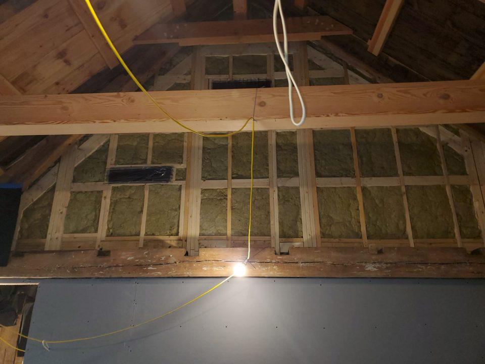 barn older home insulation added
